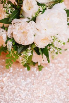 sequins and peonies = such a good match | Photography by jessicakettle.com |  Design + Planning by amorologyweddings.com |  Floral Design by jldesignsandevents.com |   Read more - http://www.stylemepretty.com/2013/07/11/palm-springs-wedding-from-amorology/