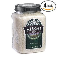 RiceSelect Sushi Rice, 36-Ounce Jars (Pack of 4) $29.20