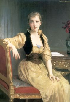 Lady Maxwell by William-Adolphe Bouguereau,1890 #victorian #painting