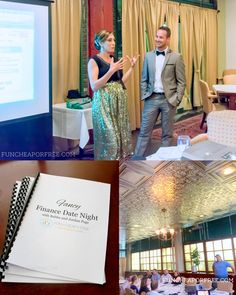 """Finance Date Night"" - includes 3-course dinner and one-on-one help from family finance experts. SO FUN and SO HELPFUL!! (Utah) Finance Date Night recap + reserve tickets for the next one! - http://funcheaporfree.com/2014/08/finance-date-night-recap/"