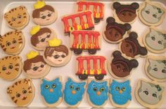 Daniel Tiger's Neighborhood, Trolly, O the Owl, Miss Elaina, Katerina Kittycat, Prince Wednesday, Daniel Tiger - Decorated Sugar Cookies by I Am The Cookie Lady