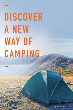 Go camping with a portable elevated tent!