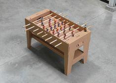 cardboard foosball table by kickpack