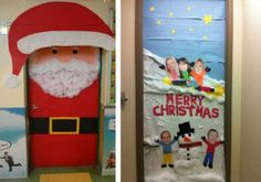 christmas decoration ideas for a door