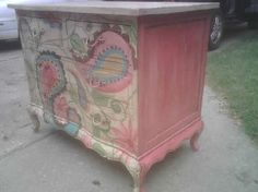 pink glaze on sides
