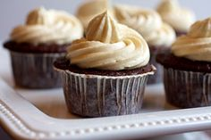 Guiness Cupcakes with Bailey's Irish Cream Frosting