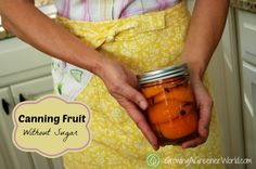 Canning fruit without sugar -  using grape juice. Lovely spiced apricots!