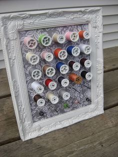 This would look adorable in my dream fashion studio. It's a great storage idea and it's a creative way of using a picture frame differently.
