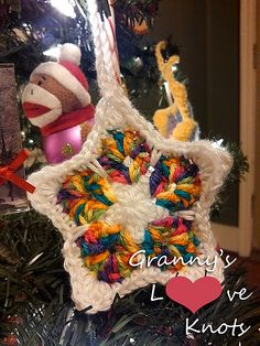 Stained Glass Star Ornament by Pam Stinnett star ornament, christma crochet, crochet star, craft idea, crochet ornament, glass ornament, glass star, stain glass, stained glass