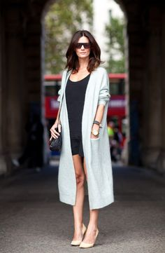 Super chic, understated luxe. Great hair, beautiful fabric, considered accessories and classic pumps - easy!