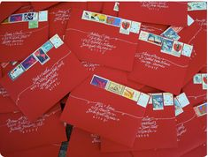 love these envelopes for christmas cards