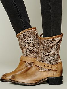 Free People Crochet Beau Boot - debating how badly I might need these....