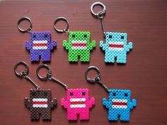 Colorful Domo Perler Bead Key Chain Collection by SAMorICrafts, $12.50