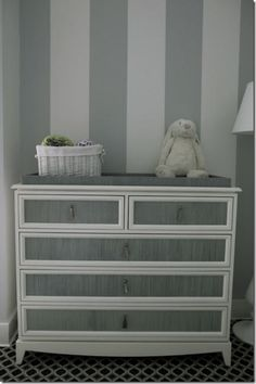 grey dresser/changing table