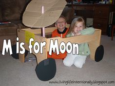 M is for Moon preschool and kindergarten unit with lots of hands on ideas, resources, and activities including oreo moon phases, DIY Apollo 11 from cardboard box and more!!!