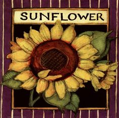 Sunflower Seed Packet by Susan Winget art print