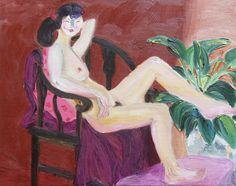 "Saatchi Online Artist: 傅 仪; Oil 2011 Painting ""woman nude"""