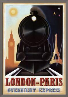 Vintage poster: London-Paris express