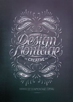 Design Montage by Aurelie Maron - #typography #type