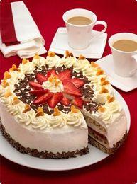 Erdbeer-Mandel-Torte  Strawberry-almond torte   Recipe in German
