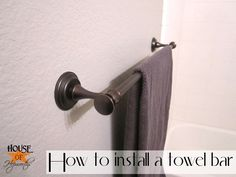 How to easily install a towel bar!