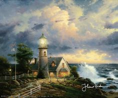 Thomas Kinkade - A Light in the Storm  1995