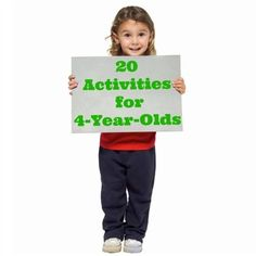 20 Activities for 4-Year-olds