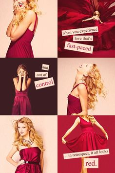 #taylorswift -- quote about her new album RED