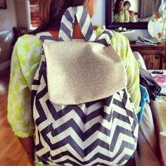 Homemade backpack.