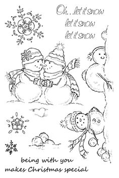 Impression Obsession Rubber Stamps Clear Stamp Set - Let It Snow