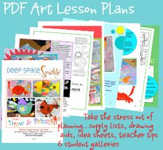 Hundreds of free art lessons by grades K - 6