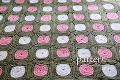 Crochet Polka Dot Blanket - YouTube