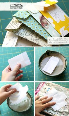 Best of DIYs - easy tiny envelopes - by making a template from an old envelope!