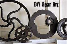 How to make 'gear art' by Mama with a Dash of DIY Drama - fabulous!