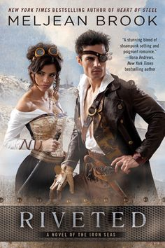 Best Paranormal Steampunk/Historical Cover Nominee - Riveted by Meljean Brook - Cover by Claudio Marinesco