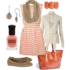 peaches & cream, created by htotheb.polyvore.com