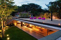 studio, sao paulo, interior, house design, dream, roof deck, modern architecture, roof terraces, underground homes