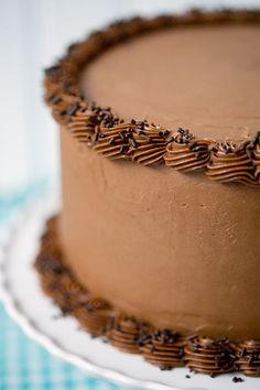 Bourbon Layer Cake with Bourbon Ganache and Milk Chocolate Buttercream — ahhhhh!