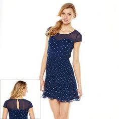 LC Lauren Conrad Ladybug Chiffon Dress - Women's #Kohls