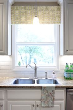 Another lovely kitchen window (plus I like the lighting under the cabinets! #DeltaKitchenInspired