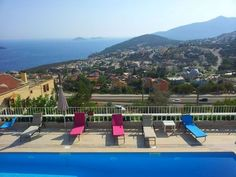 View over the town of Kalkan on the Mediterranean coast of Turkey