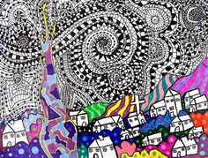 Starry Night Zentangles Rachel7096's art on Artsonia
