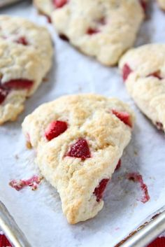 strawberry ricotta scone - Click image to find more hot Pinterest pins