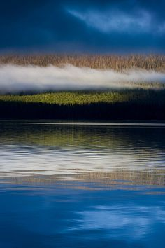 Early morning stillness over Lake McDonald, Glacier National Park, Montana