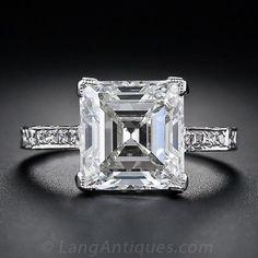 3.46 ct Edwardian diamond ring, circa 1910