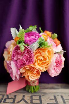 bridal bouquets, color combos, wedding bouquets, orange weddings, wedding flowers, flower ideas, orange flowers, bouquet flowers, floral