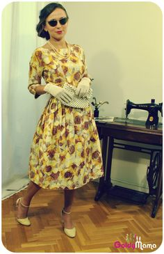 Robe des années 50 www.goldymama.com  Robes vintage  Pinterest