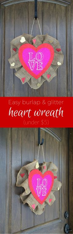 Easy burlap and glit