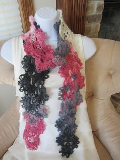 Queen Anne Lace Scarf. All Season angora blend by Bluetulipgifts, $21.99