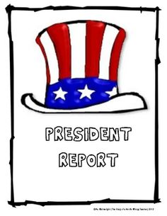 This ready-made assignment has everything you need to assign a president report to your students. This mini activity unit comes with a directions p...
